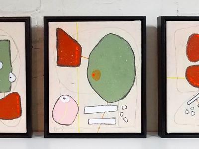 Triptych: Past, Present, Future [sold]