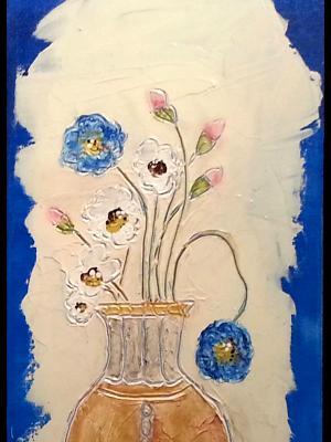 Still Life - Flowers in Vase (sold)