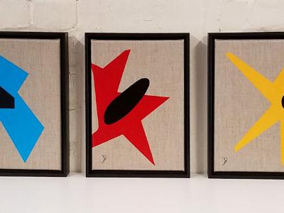 Black Holes (Triptych) *sold*