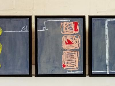 Triptych: Receiving, And Sustaining, Structural Integrity (Grey Matter Series) [sold]
