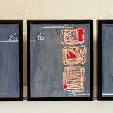 Triptych: Receiving, And Sustaining, Structural Integrity (Grey Matter Series) canvas