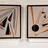 Composition in Angles - Diptych